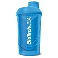 Шейкер BioTech Wave, 600 мл - голубой