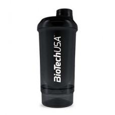Шейкер Biotech Wave + Compact 500мл (+150мл) - черный