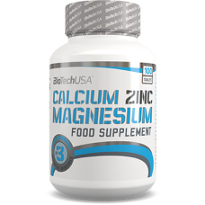 BioTech Calcium Zinc Magnezium, 100 таблеток