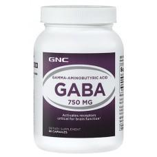 GNC GABA 750, 90 капсул