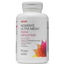 GNC Womens Ultra Mega Active without Iron, 180 каплет
