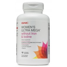 GNC Womens Ultra Mega without Iron & Iodine, 180 каплет