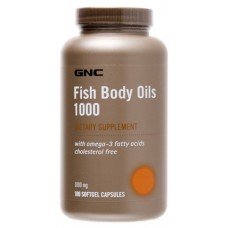 GNC Fish Body Oils 1000, 180 капсул