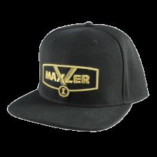 Кепка Maxler - черная с золотым логотипом