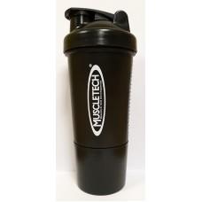 Шейкер Muscletech Smart Shake с пружинкой, 500 мл - черный