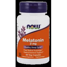 NOW Melatonin 3 мг, 60 вегакапсул