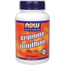 NOW Arginine & Ornithine, 100 капсул