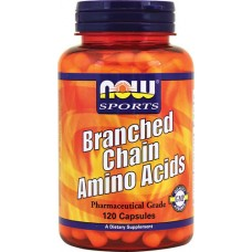 NOW Branched Chain Amino Acids, 120 капсул