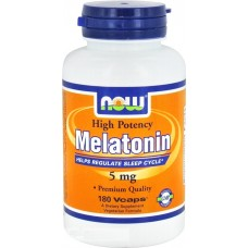 NOW Melatonin 5 мг, 180 капсул
