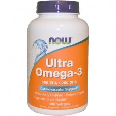 NOW Ultra Omega-3, 180 капсул