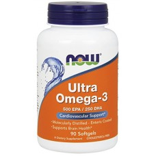 NOW Ultra Omega-3, 90 капсул