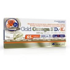 Olimp Gold Omega 3 D3+K2, 30 капсул
