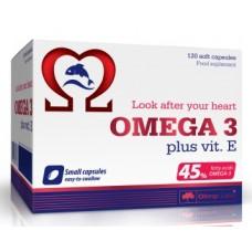 Olimp Omega 3 (45%) + vit E,  120 капсул