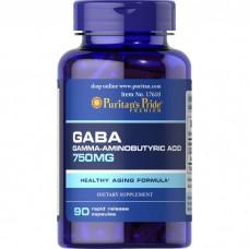 Puritans Pride GABA 750, 90 капсул