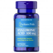 Puritans Pride Hyaluronic Acid 100 mg, 60 капсул