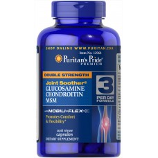 Puritans Pride Double Strength Chondroitin Glucosamine MSM, 240 каплет