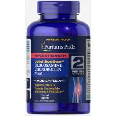 Puritans Pride Triple Strength Chondroitin Glucosamine MSM, 180 каплет