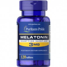 Puritans Pride Melatonin 3 mg, 120 таблеток