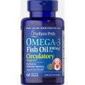 Puritans Pride Omega 3 Circulatory 1000 mg, 60 капсул