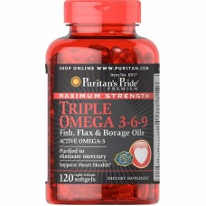 Puritans Pride Triple Omega 3-6-9, 120 капсул