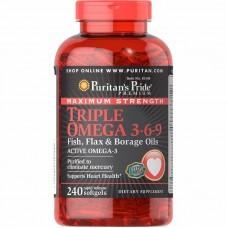 Puritans Pride Triple Omega 3-6-9, 240 капсул