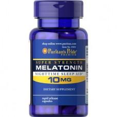 Puritans Pride Melatonin 10 mg, 60 капсул