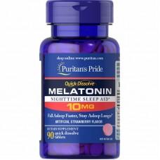 Puritans Pride Melatonin 10 mg, 90 таблеток